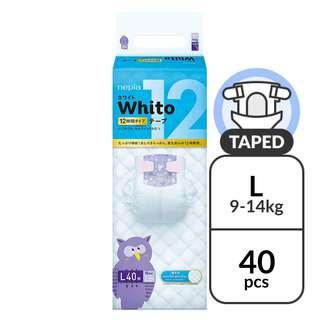 Nepia Whito Tape L 12H - (9-14kg) 40 pc
