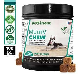 Petfinest Multivitamins Chew - 10 in 1 Pet Dog Supplement