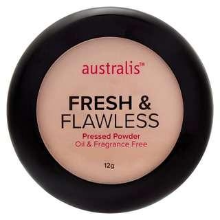 Australis Fresh and Flawless Pressed Powder in Medium Tan