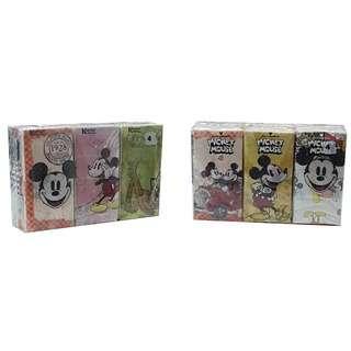 DISNEY Mickey & Minnie Colourful Tissue (9s x 6 Packs)