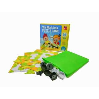 Play N Learn Board Game Six Matches Puzzle Fun Game