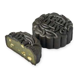 Gin Thye Traditional Baked Mooncakes - Bamboo Charcoal 4 pcs