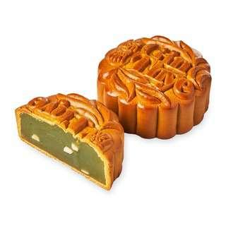 Gin Thye Traditional Baked Mooncakes - Pandan Pure Lotus 4 pc