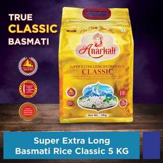 Anarkali Extra Long Classic Basmati Rice Medium GI Rice