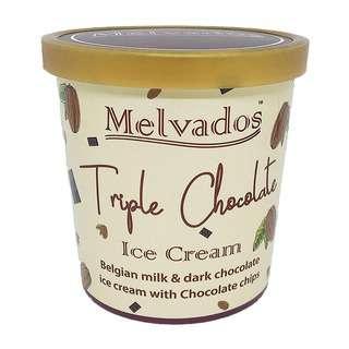 MELVADOS Triple Chocolate Ice Cream