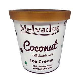 Melvados Coconut with Chocolate Swirls Ice Cream