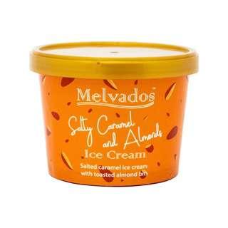 MELVADOS Salty Caramel Almond Ice Cream