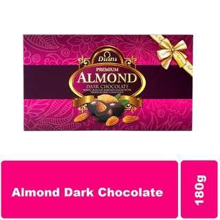 Daiana Almond Dark Chocolate Gift Box 180g