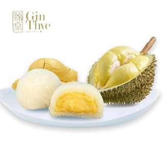 Gin Thye Premium Durian Mochi (White) 10 pcs/box