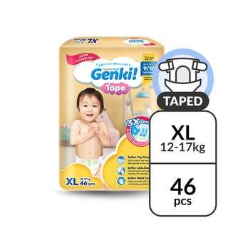Nepia Genki! Mega Pack Tape Diapers XL 48