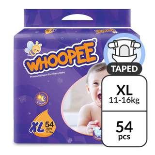 OJI Whoopee Mega Pack Tape Diapers XL - (11-16kg)