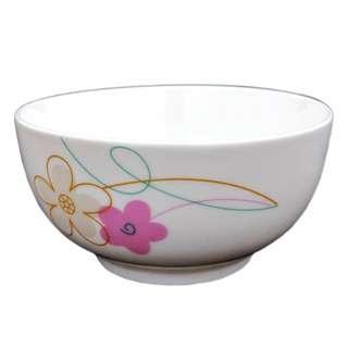 """Amark Plum Blossom Porcelain Rice/Soup Bowl 5"""" 4-pc Set"""