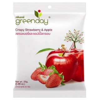 Greenday Snacks Strawberry + Apple Mix (Freeze-Dried Fruits)