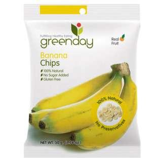 Greenday Snacks Banana (Crispy Fruits)