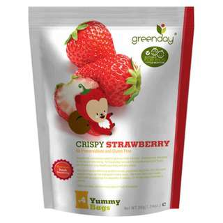 Greenday Snacks Strawberry - Kids Multi-Pack (Freeze-Dried)