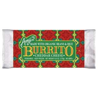 Amy's Kitchen Organic Burrito Wrap Bean & Cheddar Cheese