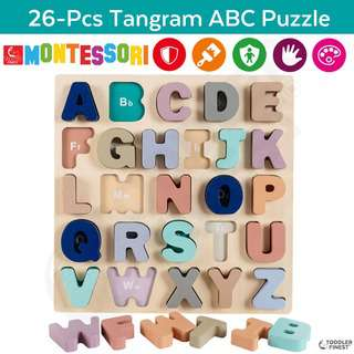 ToddlerFinest Tangram Number Puzzle Kids Montessori Toy