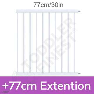 ToddlerFinest +77cm Extension Auto Close Safety Baby Gate
