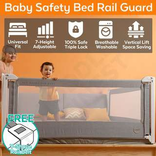ToddlerFinest Baby Bed Rail Guard Fence Safety Bedrail 1.5m