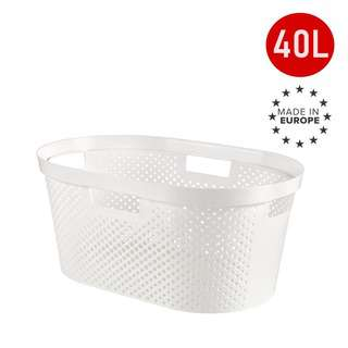 CURVER Infinity Laundry Basket Dots White 40L