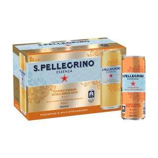 San Pellegrino Essenza Tangerine and Wild Strawberry 8Pack