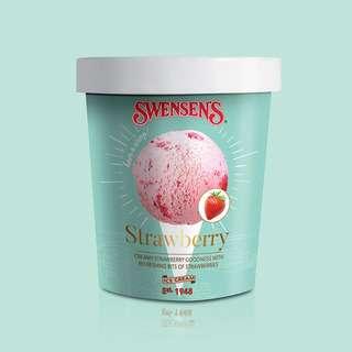 Swensen's Strawberry Ice Cream Pint Tub