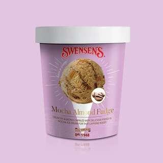 Swensen's Mocha Almond Fudge Ice Cream Pint Tub