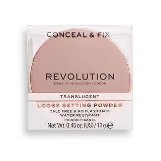 Revolution Conceal & Fix Loose Setting Powder - Translucent