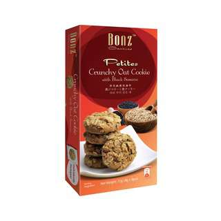 BONZ Crunchy Oat with Black Sesame Cookies