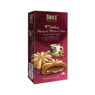 BONZ Almond White Coffee Creme Filled Cookies