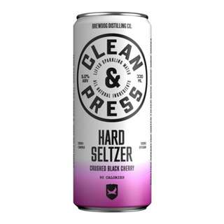 Clean and Press Crushed Black Cherry Hard Seltzer