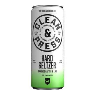 Clean and Press Cactus and Lime Hard Seltzer