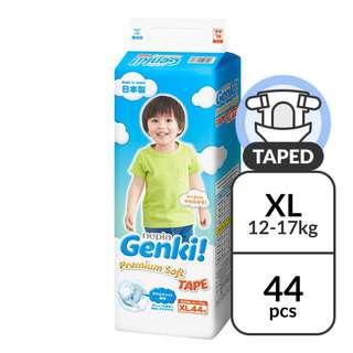 Nepia Genki! Premium Soft Tape XL - (12-17kg) 44 pc