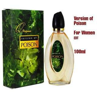 Q PERFUMES VERSION OF POISON WOMEN EDT