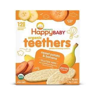 Happy Family Gentle Teethers - Banana&Sweet Potato 12x4g