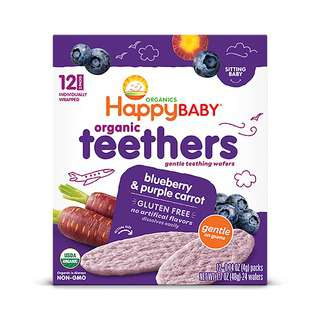 Happy Family Gentle Teethers - Blueberry&Purple Carrot 12x4g
