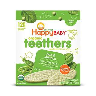 Happy Family Gentle Teethers - Pea&Spinach 12x4g