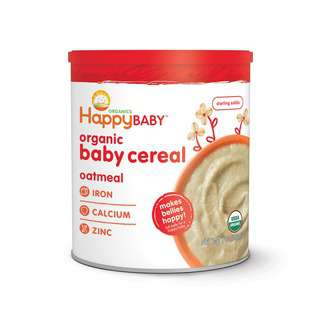 Happy Family Organic Baby Cereal - Oatmeal, 198 g.