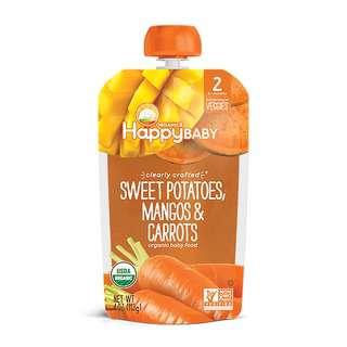 Happy Family Stage 2 M - Sweet Potatoes Mangos&Carrots 113g