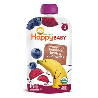 Happy Family Stage 2 S - Bananas, Beets & Blueberries, 113 g.
