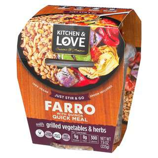 Kitchen & Love Grilled Vegetable Farro Quick Meal