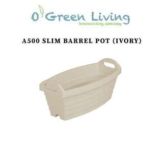 Organic Green Living (OGL) A500 Slim Barrel Pot- Ivory