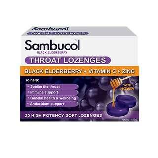 Sambucol Throat Lozenges (AUS Version), 20 lozs.