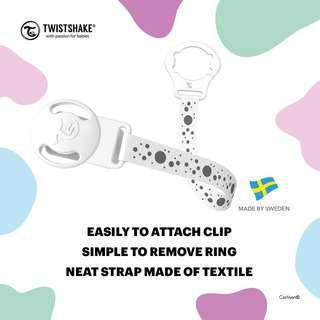 Twistshake Pacifier Clip White