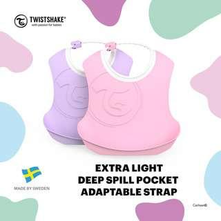 Twistshake 2X Bib 4+M Pastel Pink Purple