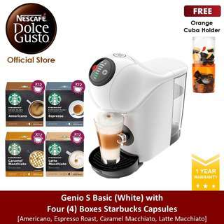 NESCAFE Dolce Gusto *GWP*Genio S Basic w 4 Starbucks Capsules