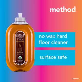 Method squirt + mop wood floor cleaner - almond