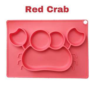 Shears Baby Plate Food Grade Silicone Place Mat Red Crab