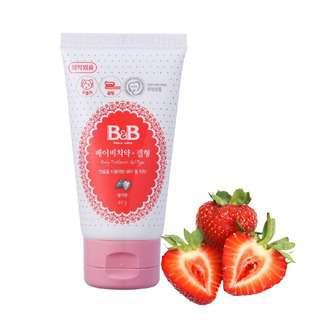 B&B Baby Toothpaste, Strawberry (Gel Type)
