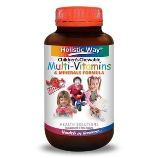 Holistic Way Childrens Chewable Multi-Vitamins & Minerals